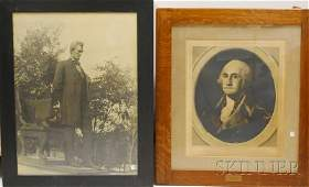 1249 Five Framed US Presidential and Historical Prin