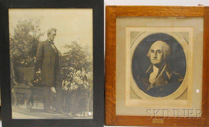 1249: Five Framed U.S. Presidential and Historical Prin