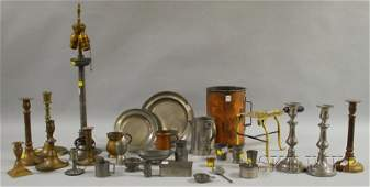 1281 Large Lot of Assorted Pewter Brass and Copper I