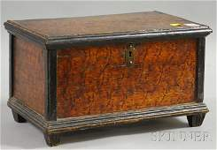 Small Painted and Grained Pine Footed Box, the un