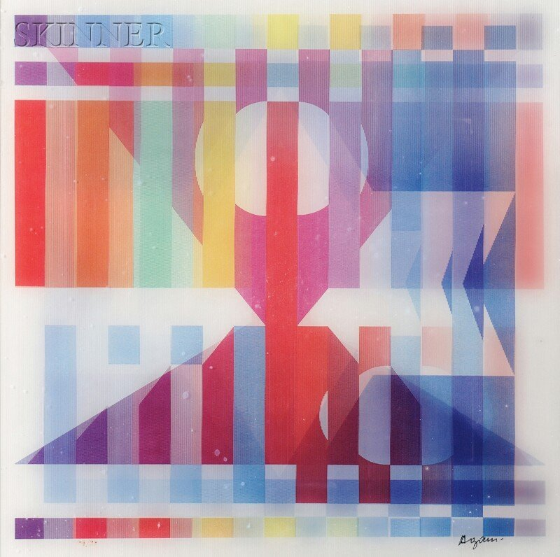 Yaacov Agam (Israeli, b. 1928) Two Images from the BIRT