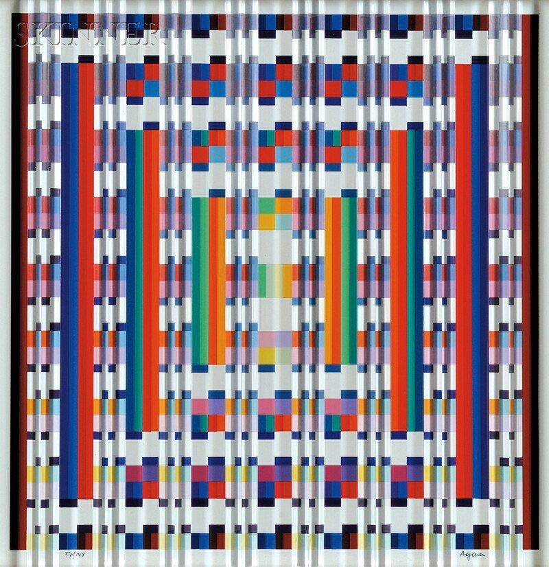 Yaacov Agam (Israeli, b. 1928) Untitled, edition of 144