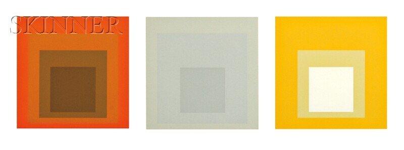 Josef Albers (German/American, 1888-1976) Three Images