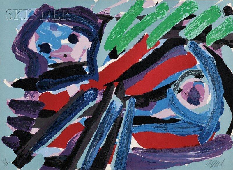 Karel Appel (Dutch, 1921-2006) Untitled (Animal). Signe