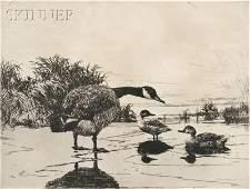 Frank Weston Benson (American, 1862-1951) Goose and Tea