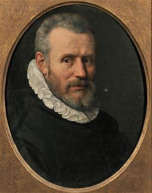 Continental School, 17th Century Portrait of a Man in a