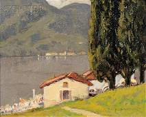 Charles Warren Eaton (American, 1857-1937) Lake Como Si