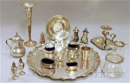 45: Group of Assorted Mostly Sterling Silver Tableware,