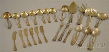 189: Group of Assorted Mostly Sterling Silver Flatware,