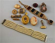222: Small Group of Assorted Mostly Victorian Jewelry,