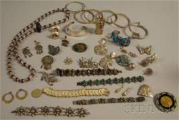 224: Group of Mexican Sterling Silver Jewelry, includin