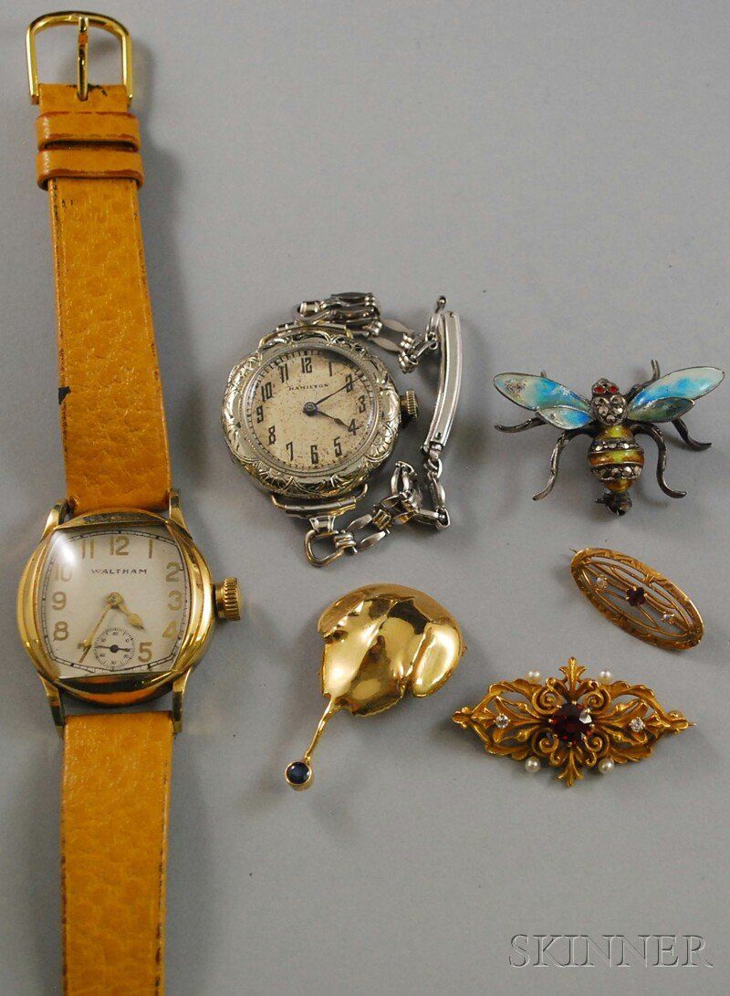 Small Group of Estate Jewelry, including a Waltham
