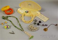 267 Small Group of Assorted Costume Jewelry including