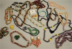 306: Assorted Group of Mostly Hardstone Jewelry, includ