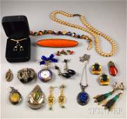 329 Small Group of Mostly Costume Jewelry including a