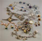 352 Group of Assorted Silver and Goldfilled Jewelry