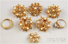 377: Assorted Small Group of Gold, Diamond, Pearl, and