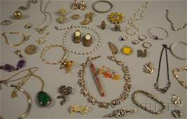 434: Small Group of Mostly Sterling Silver Jewelry, inc