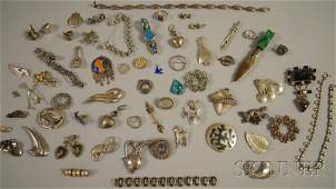 478 Group of Mostly Sterling Silver Jewelry some Mexi