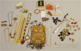 529: Group of Assorted Mostly Costume Jewelry and Acces