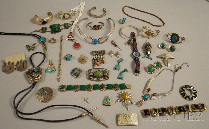 Group of Mexican and Southwestern Sterling Silver