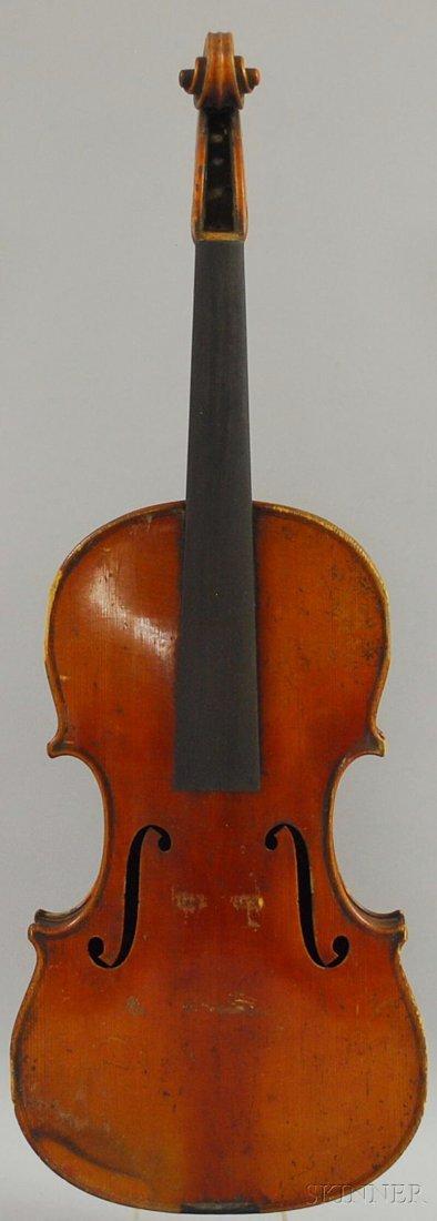 800: German Violin, c. 1900, labeled ...GUARNERIUS...,