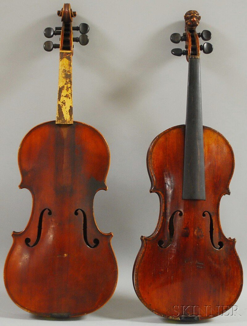 801: Two Violins, one French, the other German, c. 1880