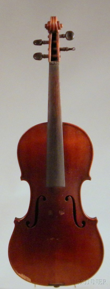 803: Modern Violin, labeled ...IMPERIAL..., length of b