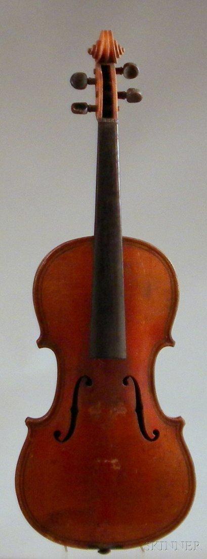 804: German Violin, c. 1900, labeled ...MAGGINI..., len
