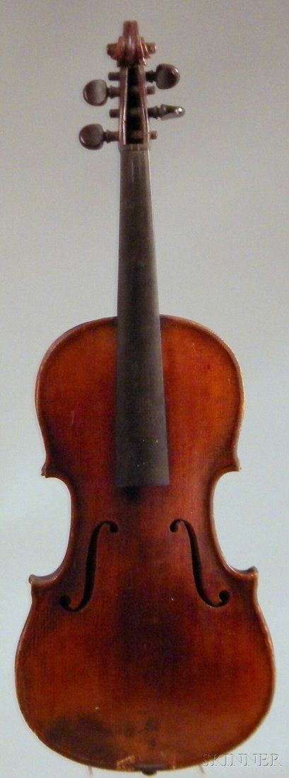 806: Klingenthal Violin, c. 1860, unlabeled, length of