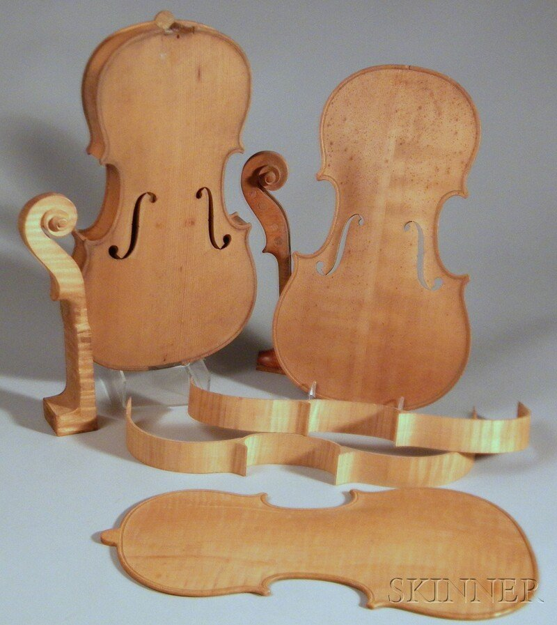 808: Two Violins in the White, one unfinished, the othe