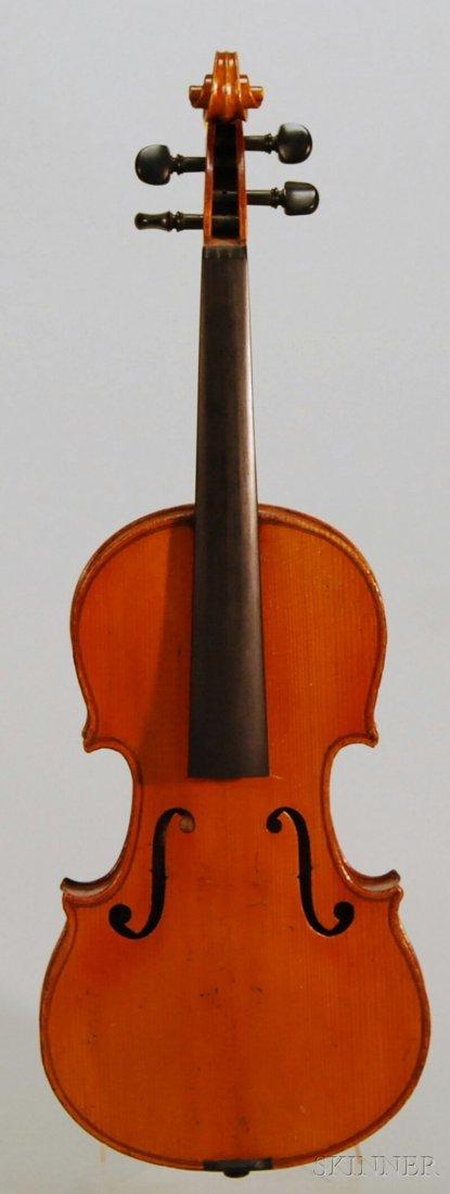 811: Child's French Violin, c. 1920, labeled COMPAGNON,