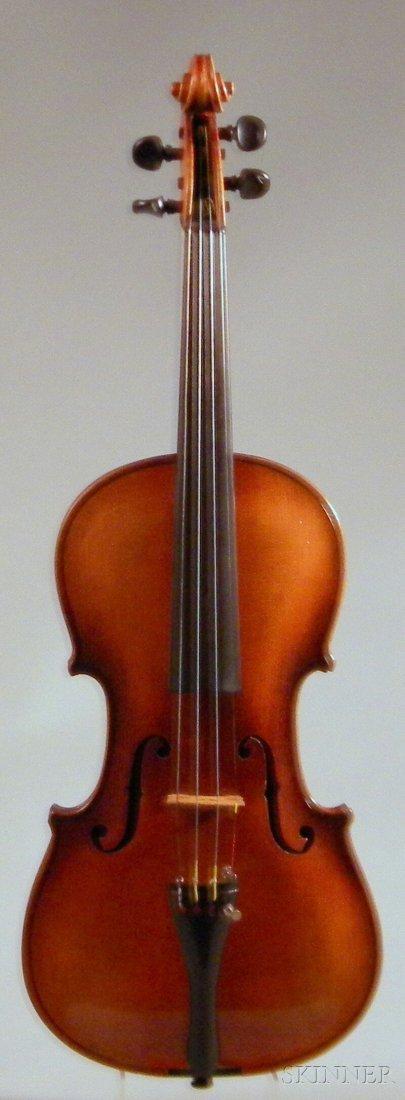 814: German Violin, c. 1910, labeled ...KLOTZ..., brand