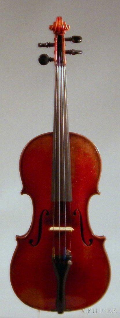 815: German Violin, c. 1930, unlabeled, length of back