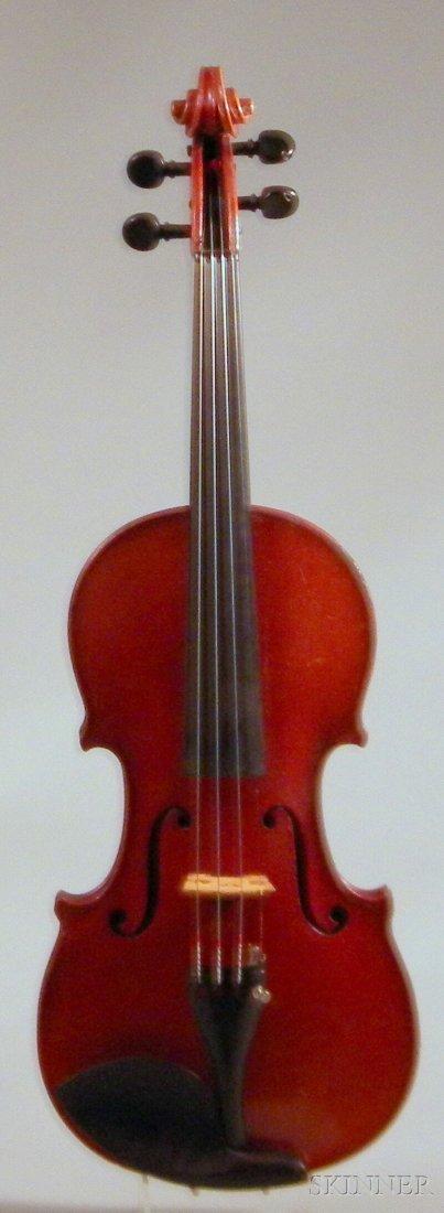 816: German Violin, c. 1920, labeled ...LOVERI..., leng