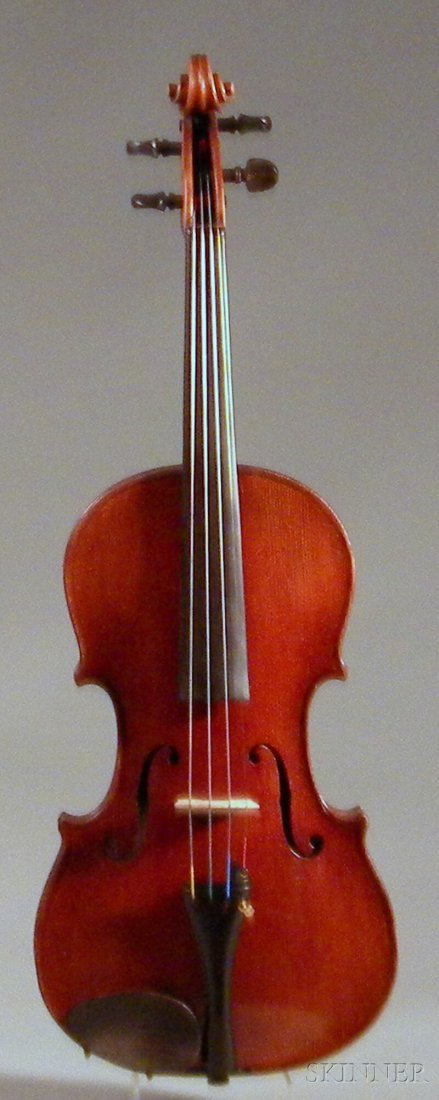 817: German Violin, c. 1900, labeled ...STAINER..., and
