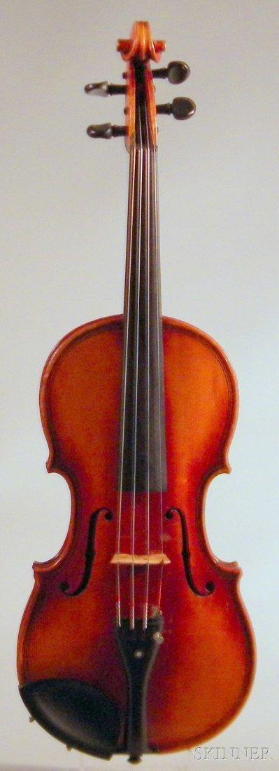 818: German Violin, c. 1920, labeled ...JUZEK..., lengt