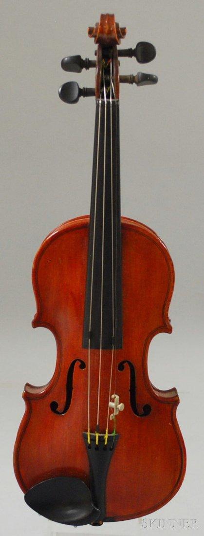 819: German Miniature Violin, c. 1900, labeled ...STRAD