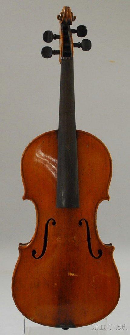 820: German Violin, c. 1910, labeled ...GUARNERIUS...,
