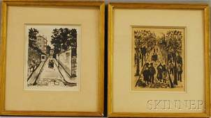 1077 Maurice Utrillo French 18831955 Two Paris Str