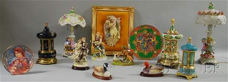 1458 Thirteen Assorted Decorative and Collectible Cera