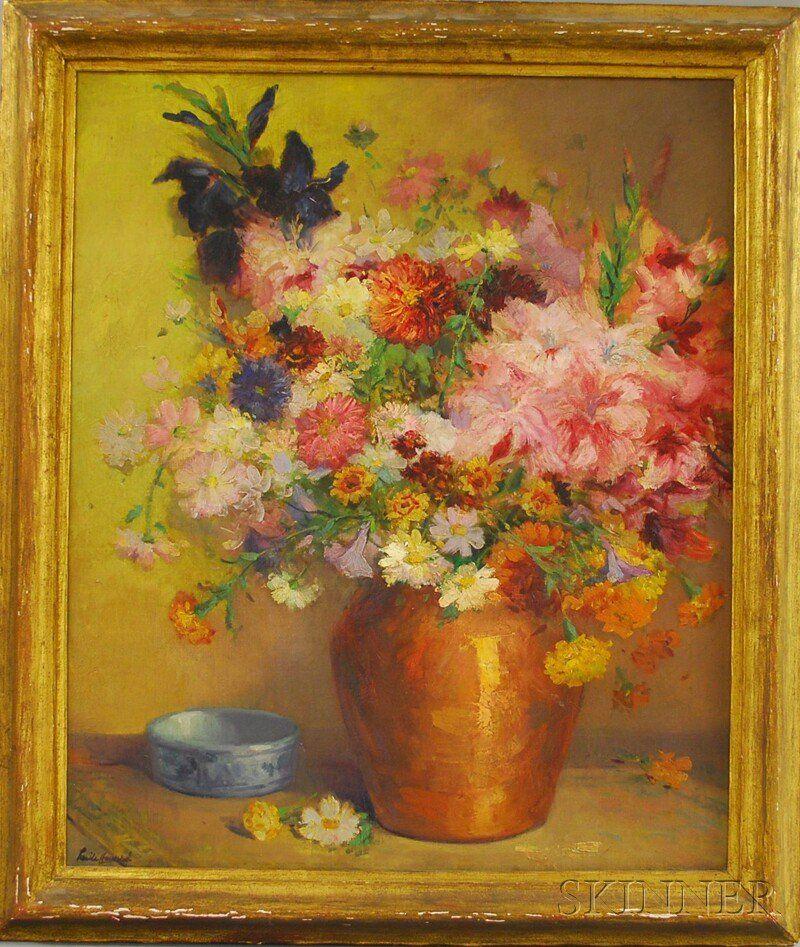 1594: Edith L. Howard (American, 1885-1960) Floral Stil