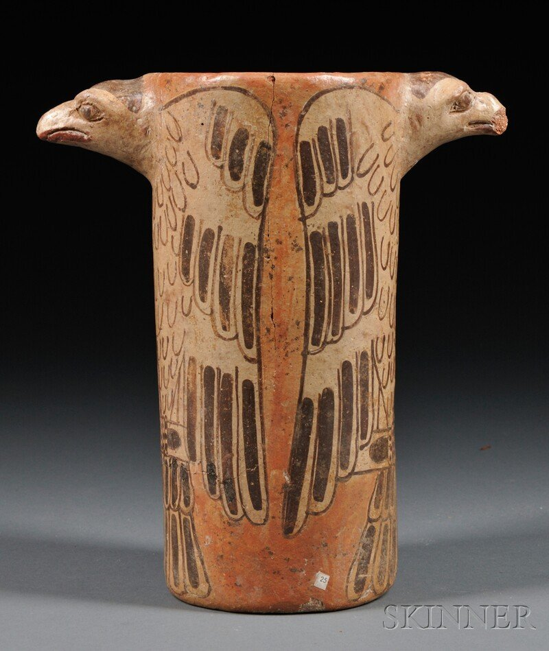 5: Polychrome Effigy Vessel, possibly pre-Columbian, de