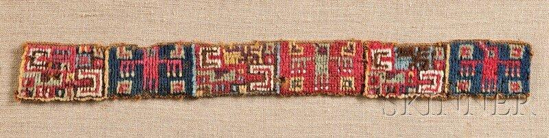 7: Huari Pile Woven Headband, with multicolored abstrac