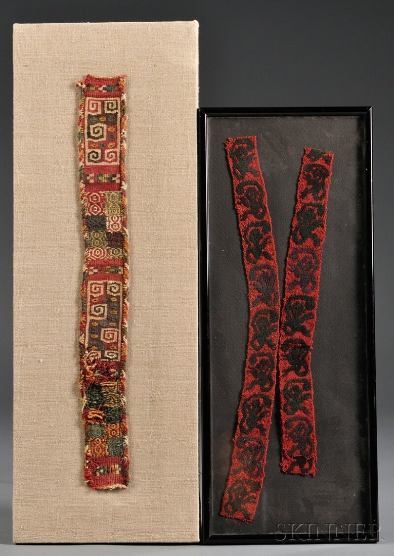 8: Two Peruvian Pre-Columbian Textile Fragments, centra