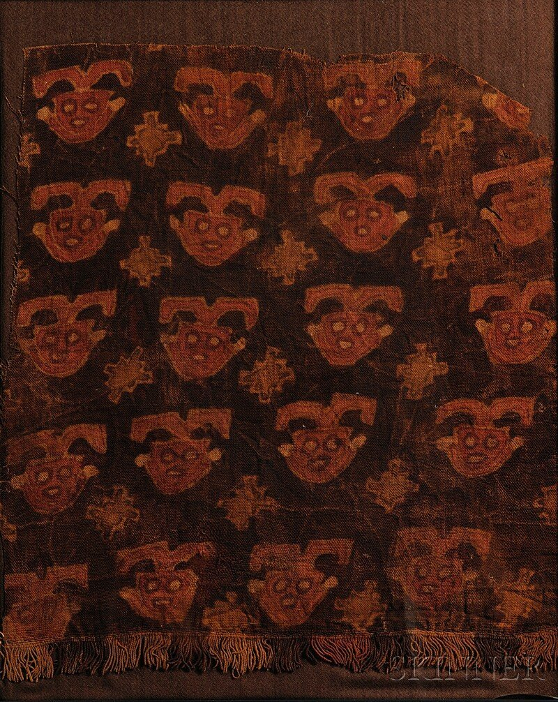 11: Peruvian Pre-Columbian Painted Textile Fragment, ce