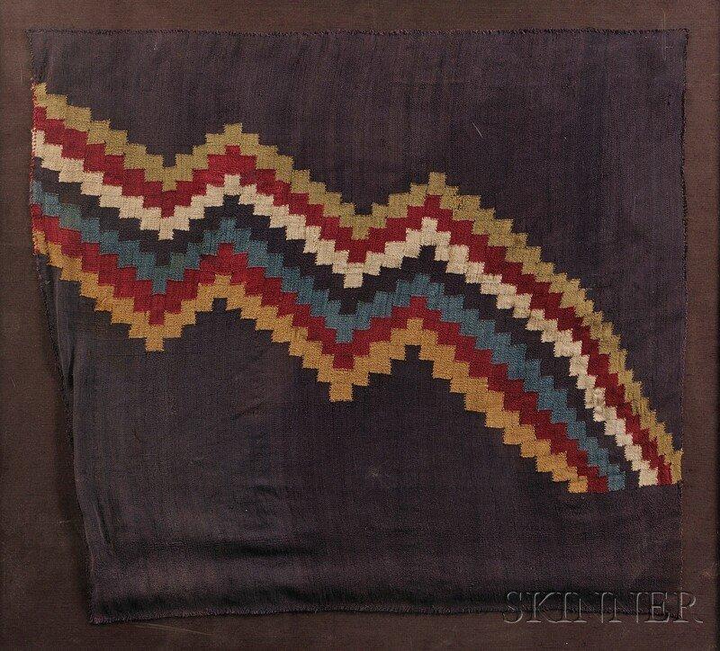 12: Peruvian Pre-Columbian Textile Fragment, large pane