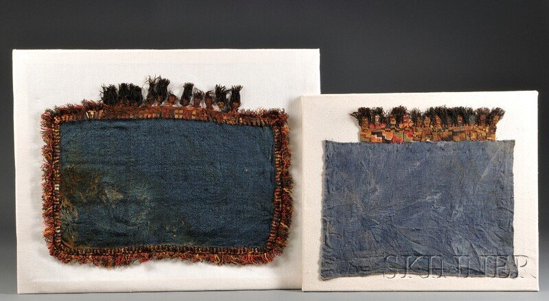 14: Two Pre-Columbian Textile Panels, with polychrome K