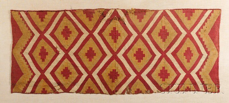 15: Chimu Multicolored Textile Panel, with concentric d
