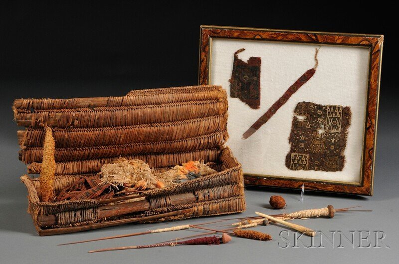 16: Peruvian Pre-Columbian Basketry Weaving Kit and Con